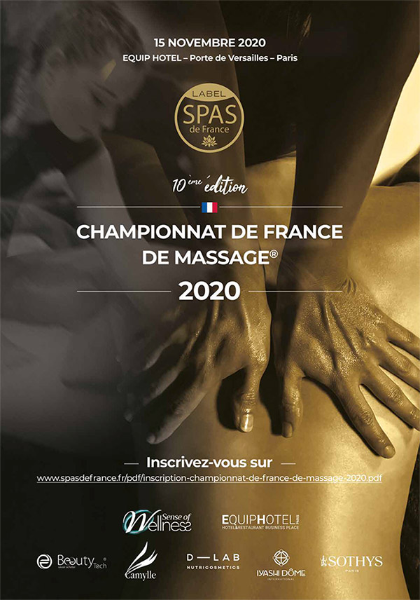 championnat de france de massage 2020 affiche