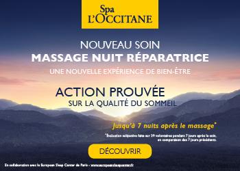 Spa L'Occitane - Massage Nuit Réparatrice