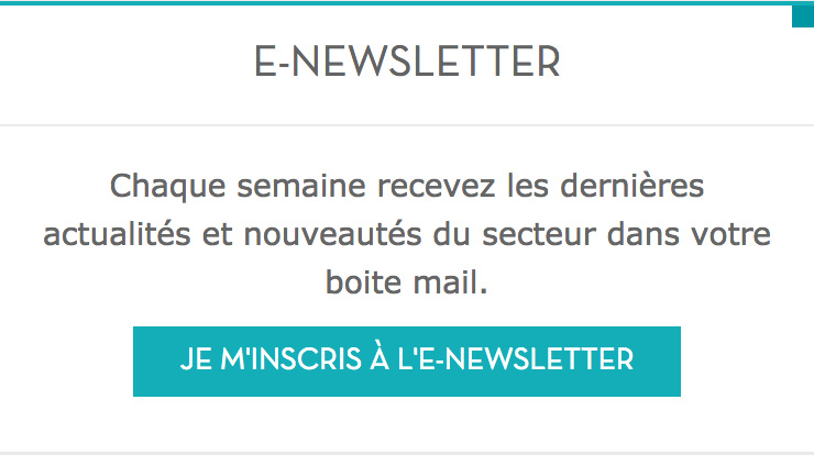 inscription enewsletter
