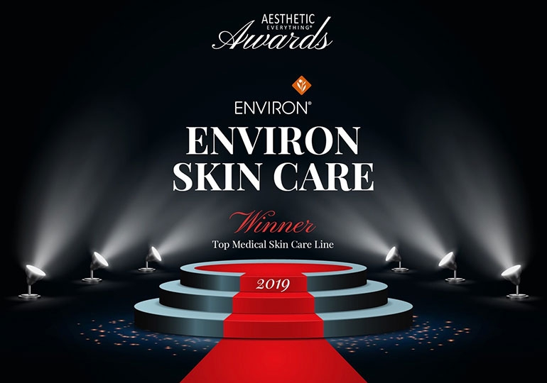 "Environ élu ""Top Medical Skin Care"" Aesthetic Everything Awards de 2019"
