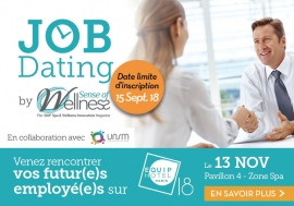 JOB DATING Spa & Wellness, Rendez-vous mardi 13 novembre à EquipHotel